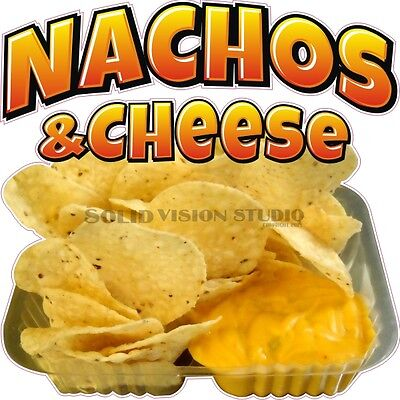 """14"""" Nachos & Cheese Concession Trailer Mexican Food Truck Restaurant Sign Decal"""