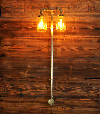 GILES plug in Wall Light Lamp Industrial Style 2 way Vintage CE MARKED Q