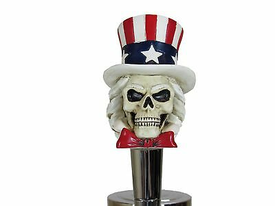 Patriotic Uncle Sam Beer Tap Handle Kegerator Resin Zombie Walking Dead Bar USA