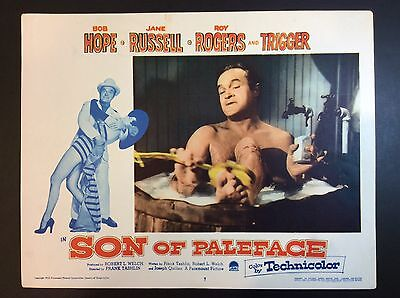 """BOB HOPE 11"""" x 14""""  """"Son Of Paleface"""" 1952 LOBBY CARD MOVIE THEATER PROMO"""