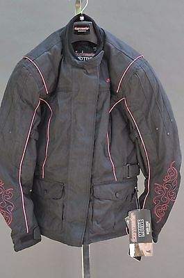 Tourmaster Womens Motive Jacket Black/pink Xs Extra Small + Free Shipping Can Us