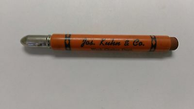 Vintage Advertising  Bullet  Pencil Jos Kuhn & Co Champaign Ill Illinois Il
