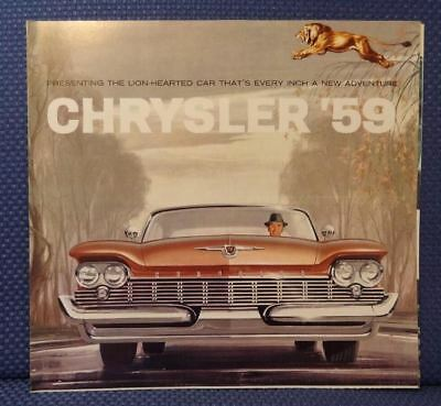 1959 CHRYSLER Automobile Color Sales Brochure - Original New Old Stock