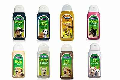 Johnsons Pets Flea Cleansing Conditioning Allergenic Shampoo  Top Choice 200ml
