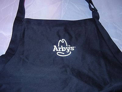 Arby's Black Work Apron One Size Fits All Uniform Brand New
