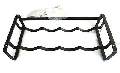 New Freedom Furniture Black Metal Mountable Wine Bottle Holder Riser Rack