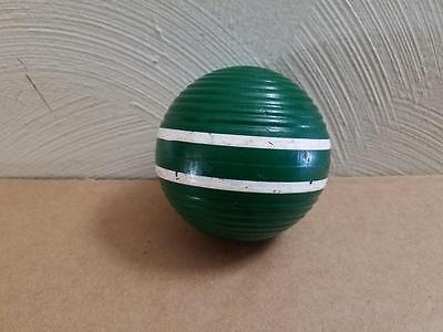 Vintage Green Two 2 Stripe Ribbed Croquet Ball Some Wear