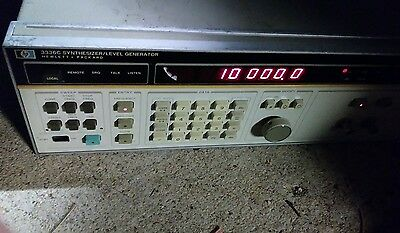 hewlett packard synthesizer/level generator 3336c