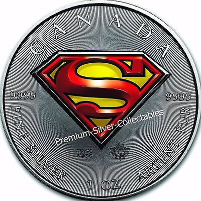 2016 Canada Superman Coin - 1 Ounce Pure Silver .9999 Iconic Coin !!!