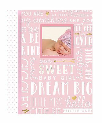 Lil Peach Dream Big Wordplay Baby Girl Memory Book, Pink - 46 Journal Pages