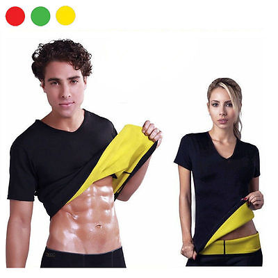 Hot Shapers Maglia T-Shirt Unisex Sauna Dimagrante Fitness Running Uomo Donna