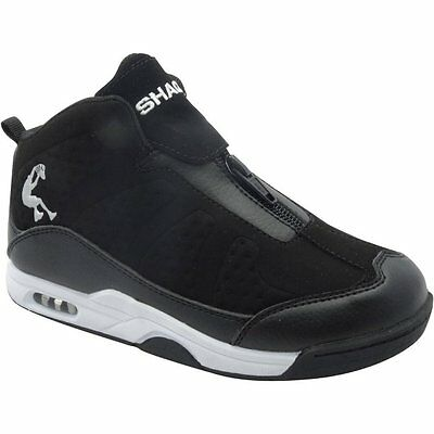 Shaq Youth Boys' Black Zip-up High Top Athletic Sneakers/Shoes: 13-6