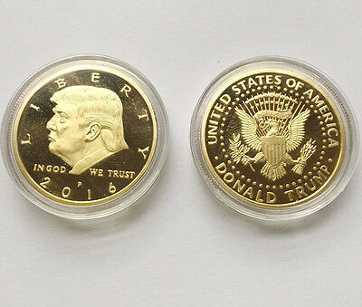 2016 President Donald Trump Inaugural Gold EAGLE Commemorative Novelty Coin