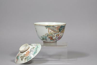 Chinese Famille-Rose Porcelain Bowl And Cover.