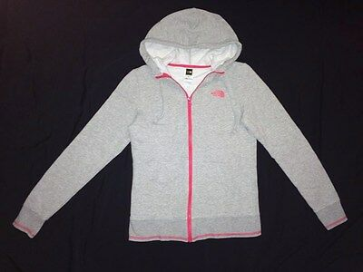 The North Face Womens Size Small S Gray Zip Up Sweatshirt Hoodie Logo Jacket
