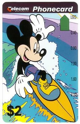 Disney's Mickey Surfing & Donald Duck In Desert (2 Cards) (Set #1) Phone Card