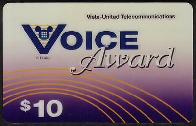 $10. Disney Voice Award Complimentary Promotion SPECIMEN Phone Card