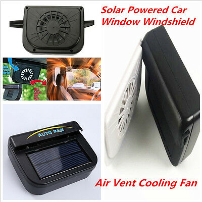 Solar Powered Auto Car Air Vent Cooling Fans Window Ventilation Radiator Systems