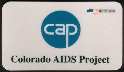 Colorado AIDS Project CAP (BC Size) 1992 Phone Card