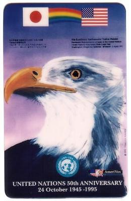 United Nations 50th Anniversary - Eagle - Japanese Ambassador Phone Card