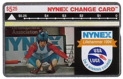 $5.25 Luge: Lillehammer 1994 Olympics 'Winning Course' NO CONTROL # Phone Card