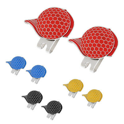 2pcs Stainless Steel Magnetic Hat Clip Ball Markers Golf Gift Accessory