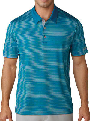 Adidas Gradient Heather Stripe Polo - Mystery Petrol