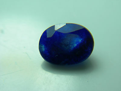 very rare gemmy dark Blue Afghanite Gemstone Fluorescent Afghanistan gem af122