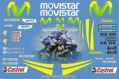 Movistar Moto GP 2005 Full Race Decals Graphics Stickers