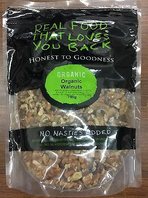 750g Certified Organic Walnut Kernels, Halves and Pieces - Honest To Goodness
