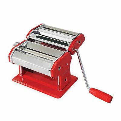 Avanti Pasta Making Machine Red 150mm Vibrant Red, Stainless Steel Free Shipping