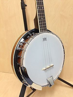 Brand New Caraya 4-string Mahogany Resonator Tenor Banjo w/Free Gig Bag |BJ-004|