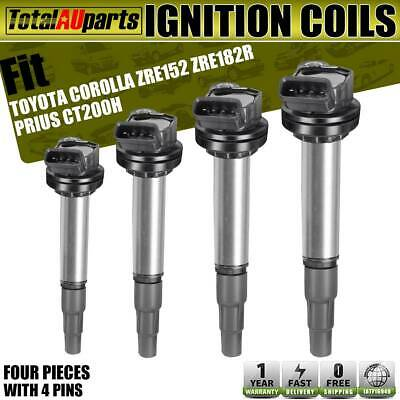 4x Ignition Coils Pack for Toyota Corolla Prius Lexus CT200h 1.8L 2ZR-FE 2ZR-FXE