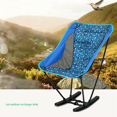 Outdoor Climbing Foldable Rocking Chair Portable Lightweight Thick Oxford Cloth