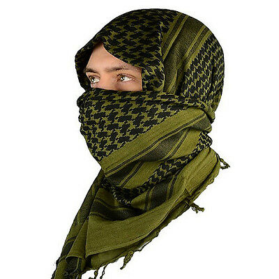 Arabic Scarf Shemagh Keffiyeh Military Tactical Desert Head Wrap Unisex Scarves