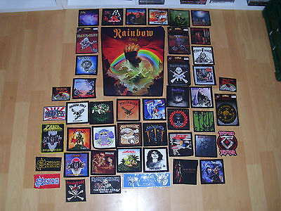 heavy metal 46 lot patch set rainbow saxon jaguar bathory. Black Bedroom Furniture Sets. Home Design Ideas
