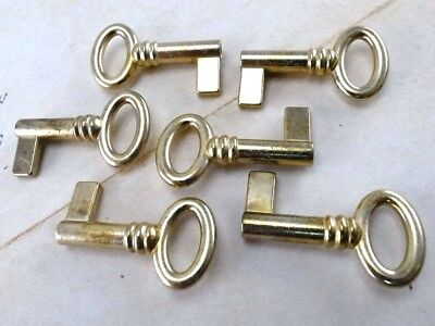 Vintage Style Skeleton Open Barrel Key Wedding Pendant-Brass Color(Lot of 6)New