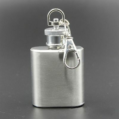 Hot Sale Whisky Flagon Hip Flask With  Key Chain Outdoor Drinkware Wine Bottle