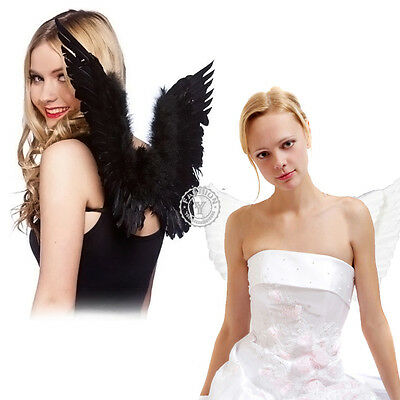 AU Adult Feather Angel Fairy Wings Fancy Dress Costume Accessory Fashion Show