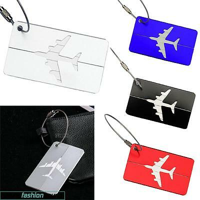 AU Luggage Suitcase Baggage Bag Round Tags Address Name ID Labels For Travel New