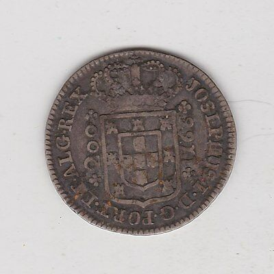 1766 Portugal Silver 200 Reis In Good Fine Condition