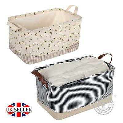 Fabric Storage Basket Box Drawer Cube Toys Books Clothes Shelving Organiser Bag
