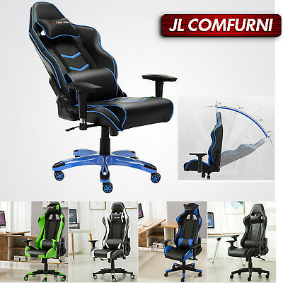 JL Brand Racing Gaming Office Desk Chair Gamers PC Chair Sports Ergonomic Padded
