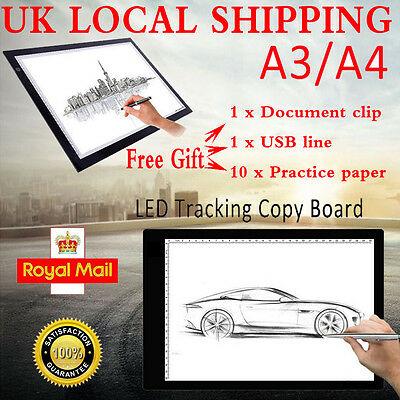 New Thin A3/A4 LED Copy Art Board Craft Tracing Drawing Stencil Table Pad Light