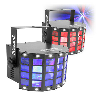 Beamz LED Butterfly with Strobe Effect Light Set DJ Disco Party Lighting