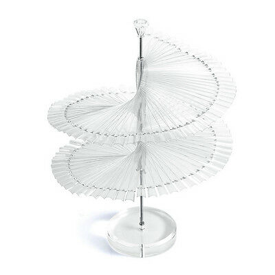 120PCS Spiral Display Fan Stick Polish Nail Tips Practice Stand Rack Show Card S