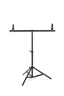 Vinyl Backdrop Support Stand & Bar | Width 60cm & Height 40-70cm | LuxLight