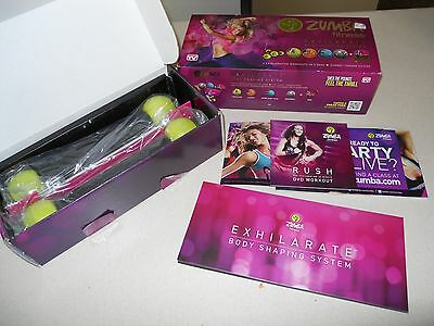 Exhilarate Body Shaping System DVD (5 disc) with Zumba Toning Sticks  by Zumba