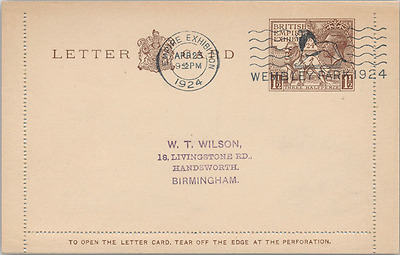 1924 Wembley Lettercard FDC Wembley Park Empire Exhibition Special Slogan