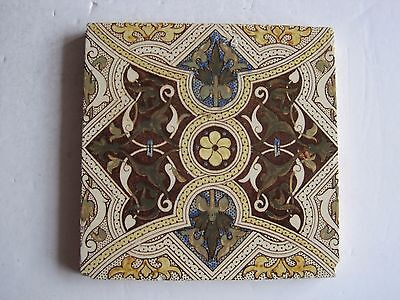Antique Victorian  Sherwin & Cotton Aesthetic Print And Tint Floral Wall Tile